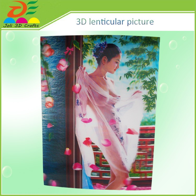 2016 hot sell home decoration use plastic 3d picture of sex girl