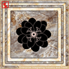 Black Flower Design Tile Floor Ceramic
