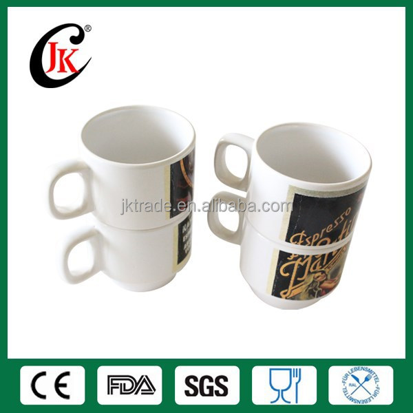 Hot sale cheap customized stackable ceramic creative mug for coffee