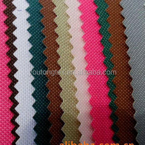 100% polyester 210D 300D 600D PVC coating oxford fabric