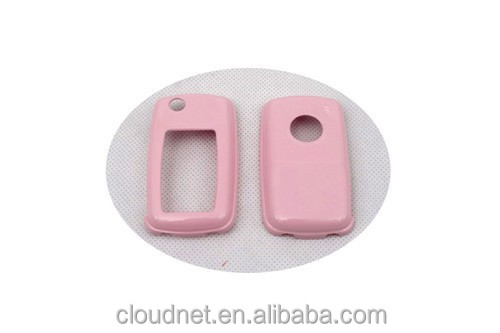 Hard Plastic Keyless Remote Key Fob Flip Key Protection Case Cover (Gloss Pink) For VW Volkswagen MK4 / MK5