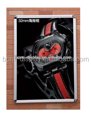 Advertising Trade Show Round Corner A1 A2 A3 A4 Size Auminum Material Snape Frame 25MM