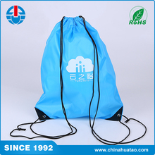 Fugang Wholesale Custom Blue Colour Polyester Drawstring Shopping Bag