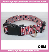 High quality pet products dog harness and collar durable nylon dog belt pet collar