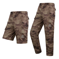 Tactical woodland sports hunting & camping dry fit Portable pants Light Removeable pants shorts