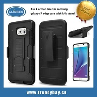 3 in 1 armor case for samsung galaxy s7 edge case with kick stand