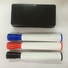 Desk whiteboard marker with eraser