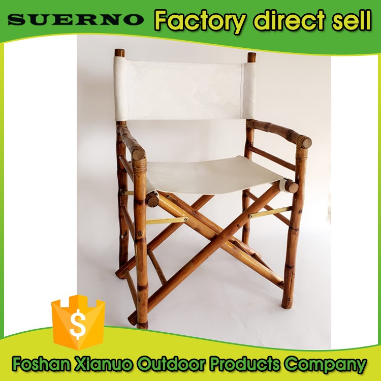 hot sale garden furniture bamboo canvas folding chair