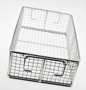 High Load-bearing Stainless Steel Metal Woven Wire Mesh Storage Baskets