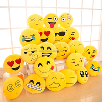 wholesale Top Quality Hot 30cm 40cm Yellow Plush Emoji Pillow Cushions