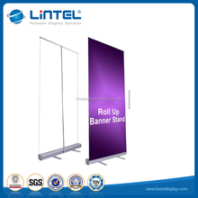 Portable scrolling aluminum roll up stand , exhibition banner display