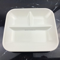 Square melamine divided plate