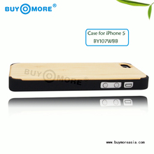 Popular Fashion Wooden raw wood case for mobile phone for iphone 5S