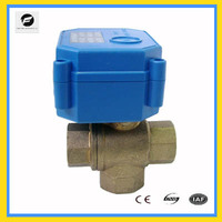 3-way electric ball valve DC12V DC24V 20MM for motorhome, water purify