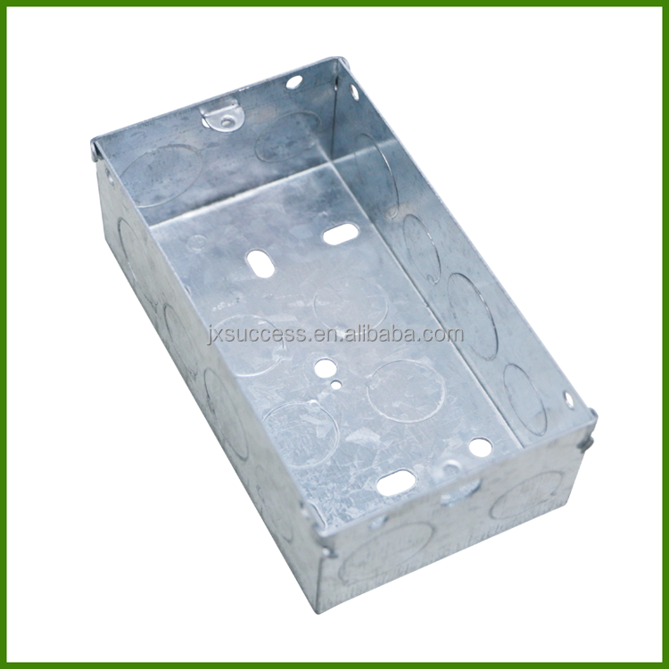 3*6 BS4662 Standard Electrical Metal Switch Box 2Gang