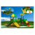 Plastic playground material and slide outdoor playground equipment HF-G108A