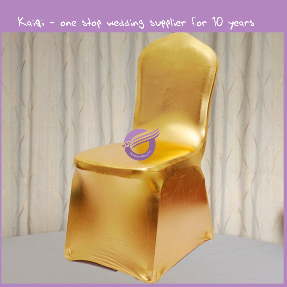 YT10013 cheap gold metallic spandex chair cover