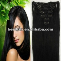 2012 hot offer kinky hair clip on extensions