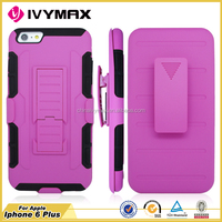 Unbreakable waterproof cell phone case for iphone 6 plus belt clip case