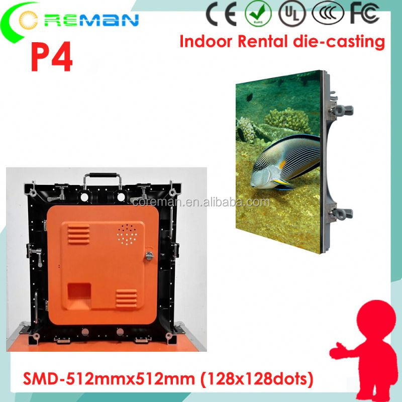 p4 smd 3in1 led video display lightweight , Wholesale price indoor wall mounted full color led monitor publicity