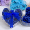 Royal Blue 6pcs Heart Rose Shape
