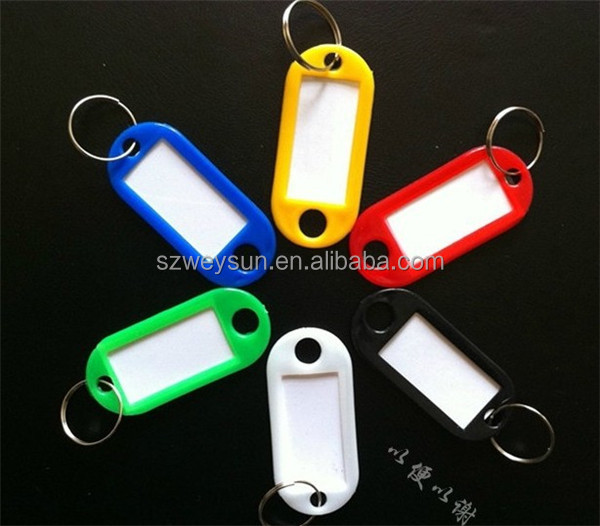Plastic Key Ring ID Tags Name Card Label Luggage Tags Keychain Assorted label classification