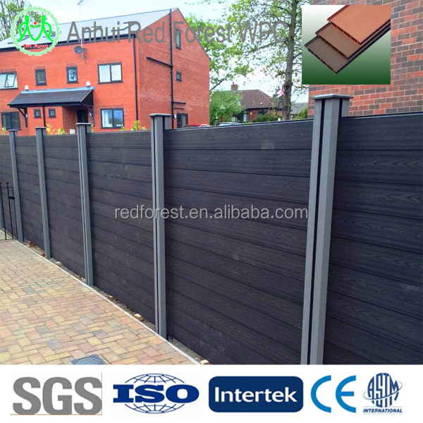 wood plastic composite embossed wpc garden fence/farm fencing