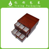 Factory Price Glossy High Quality red Gift Essential Oil Wood Box With Carve Logo