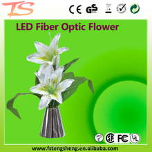 Fiber Optic LED White Lily flower lights