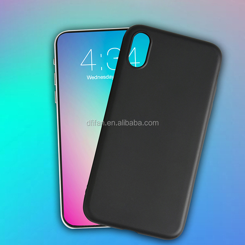 DFIFAN 2017 New product super slim for iphone X covers case soft Matte black TPU case for APPLE iphone X