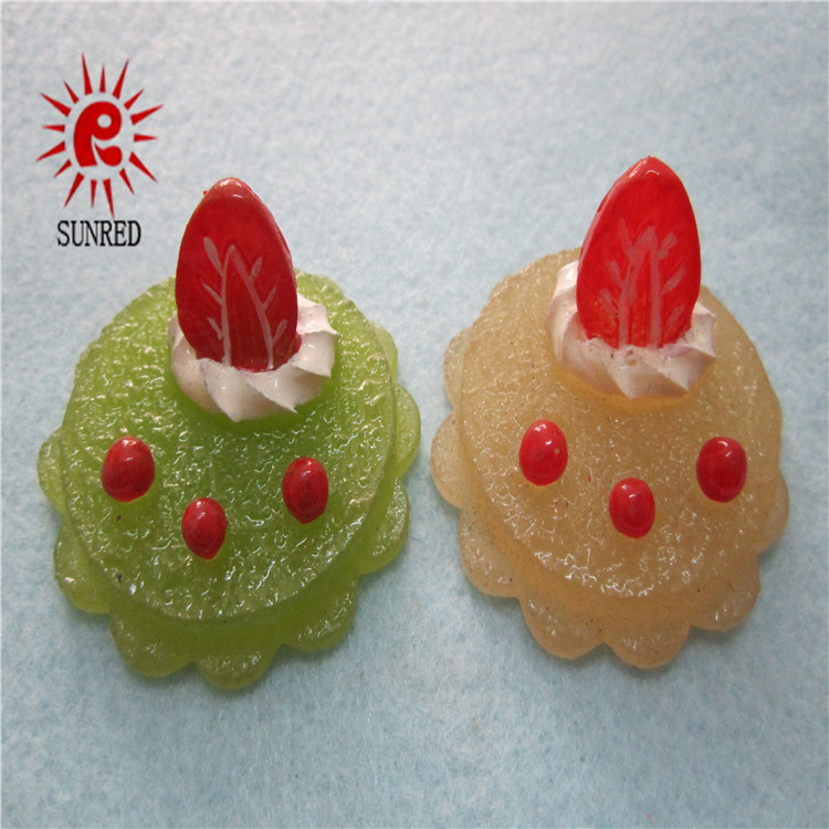 Home decoration resin artificial food craft cake