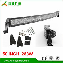 "2015 high performance 288W 24480LM 50"" curved offroad led bar light car"
