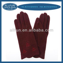 2013 fashion new design pretty elegant wuxi products Warm wool top fit gloves