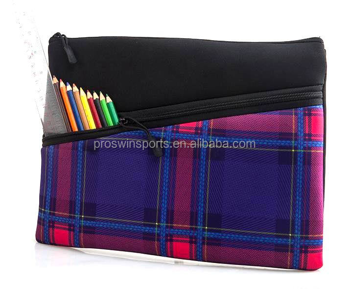 Neoprene large pencil case for teenagers