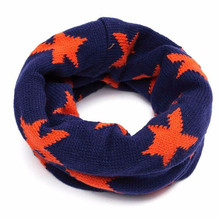 wholesale Boys Girls Neck Baby Kids Star Toddlers Knitted Circle Scarf Shawl Winter Warmer Scarves