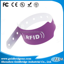 RFID paper disposable colored wristbands with different shape and size optional