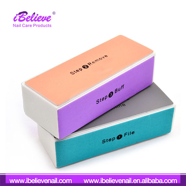 Multifunction Eva Sponge 4 Sides Durable Mini Disposable Nail Buffer In Low Price