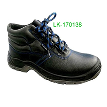 Wholesale high ankle Embossed Split Leather worker safety shoes