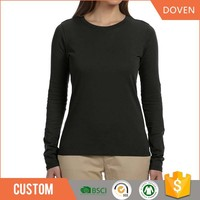 Wholsale OEM ladies long sleeve tee spring t shirt