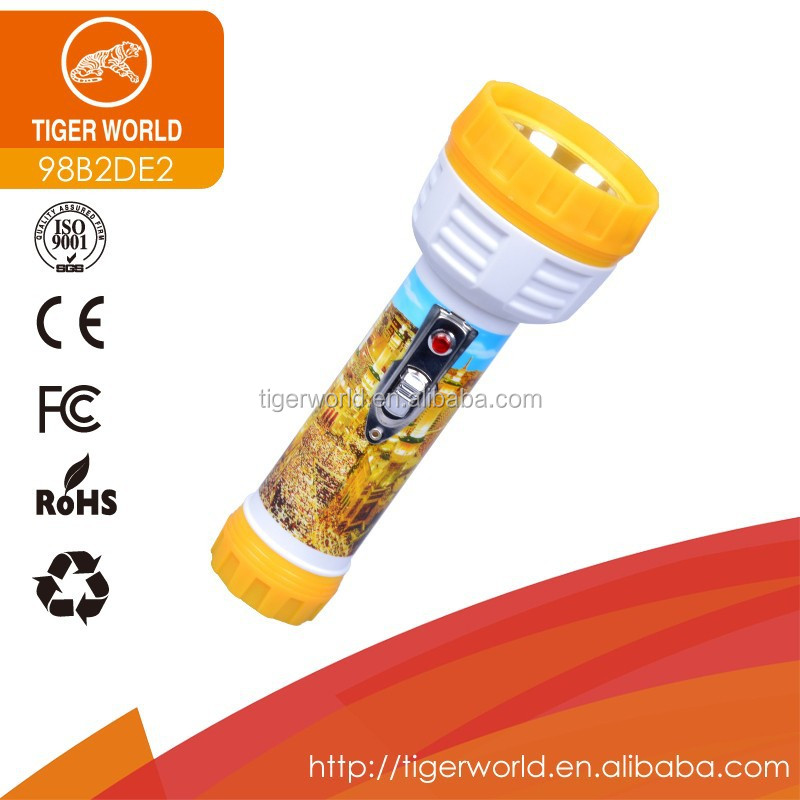 work light manufacturers OEM tiger world dry battery hand torch light for South America