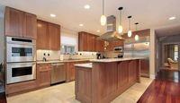 maple/birch solid wood coffee glazing Kitchen Cabinet designed