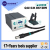 Multifunction quick 861dw portable bga smd rework station repair tools for mobile phones