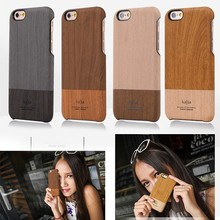 Kajsa Wood Leather Back Cover Case For iPhone 6