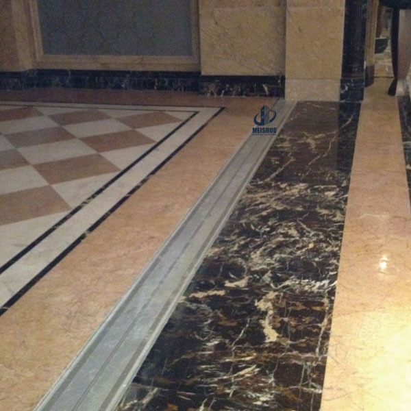 Line Art Hardwood Floors Ltd : Shopping mall sidewalk decoration recessed striped