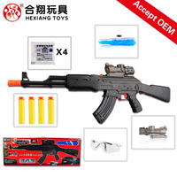 HXS801 2016 Electric plastic kid mini air soft sniper wholesale soft bullet gun toy