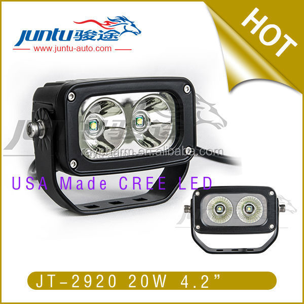 20w 1800lm 9-36v dc 1.4A@12V 0.74A@24V IP68 CREE Waterproof flood beam 20w led work offroads light
