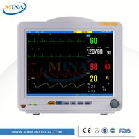 MINA-PM001 Hospital equipment portable multi parameter cardiac patient monitor