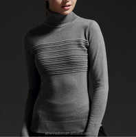 d82002f 2015 wholesale high collar sweaters pullover slim ladys knitted sweaters