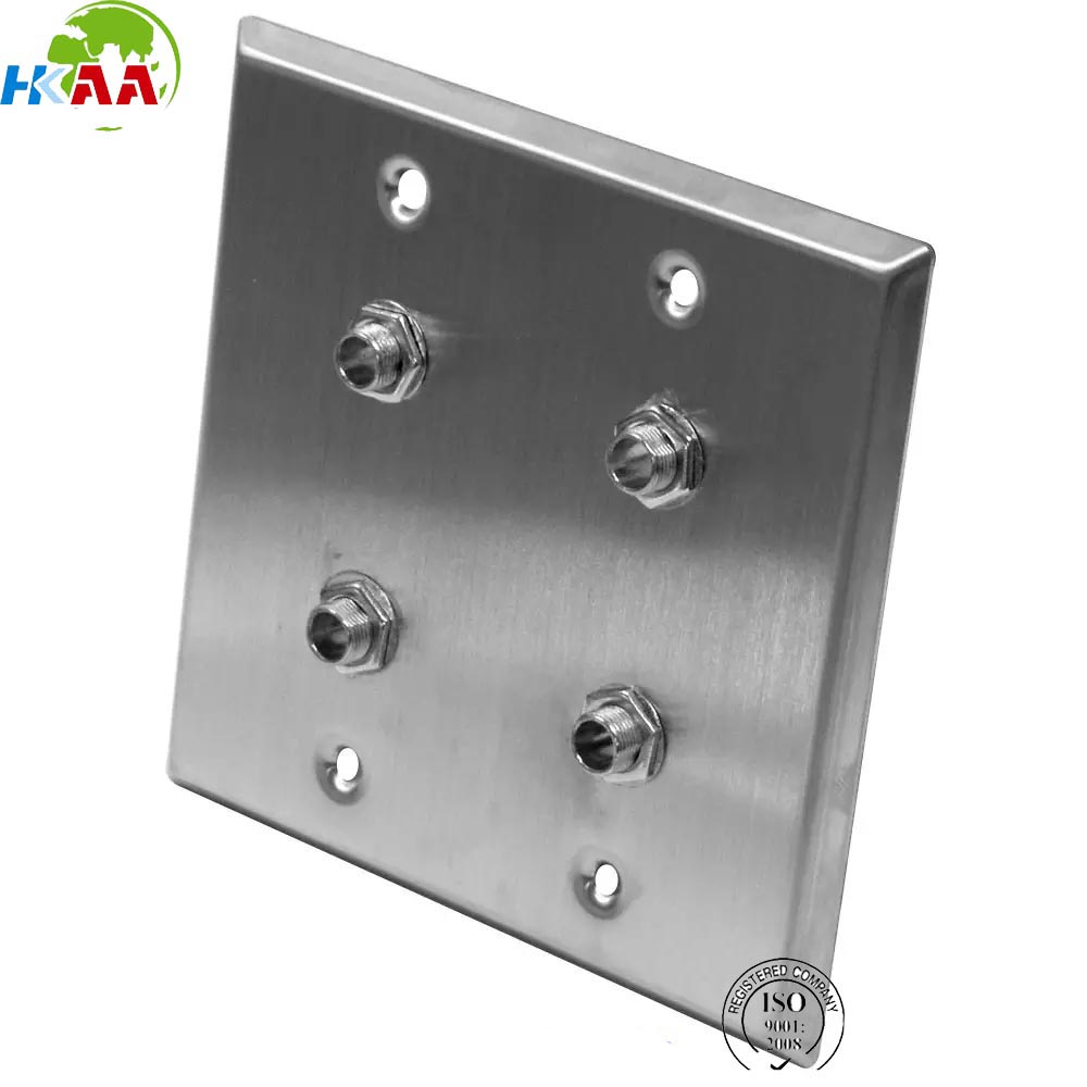 High quality CNN machining seismic audio parts stainless steel wall plate