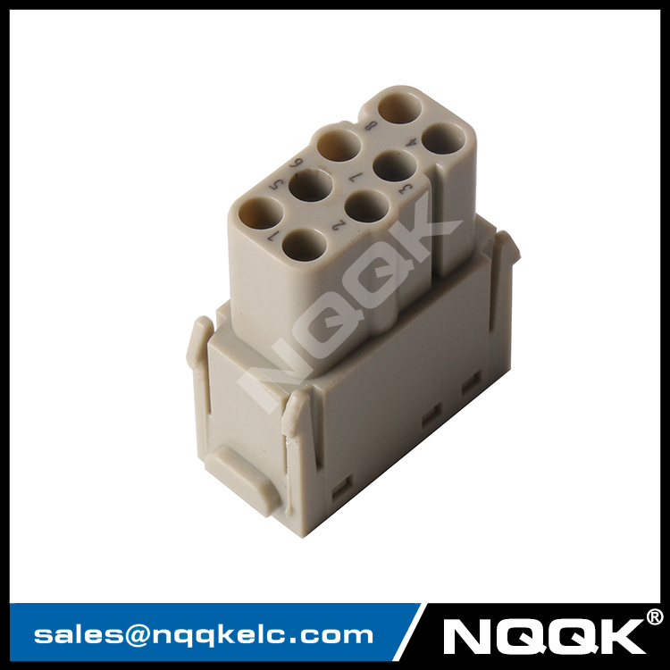 09140083001 HM-008-MC/FC 09140083101 8pin modular insert crimp terminal electronic industrial heavy duty connector